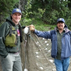 Salmon culture along the Pelly River with the Selkirk First Nation. Traditional first nations people, restricting themselves to 30 salmon a family to help the salmon stocks recover to traditional levels.